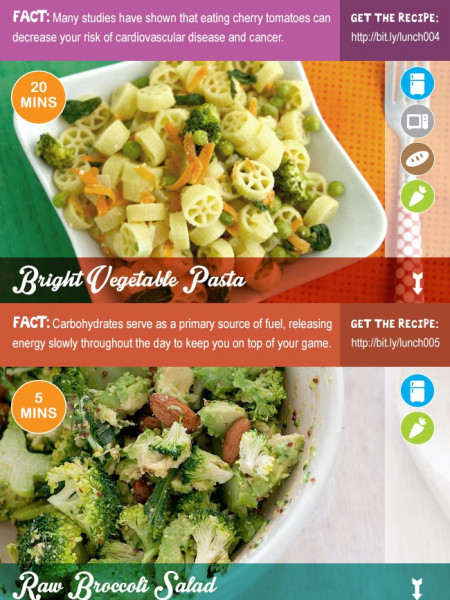 10 Healthy Office Lunch Ideas Infographic