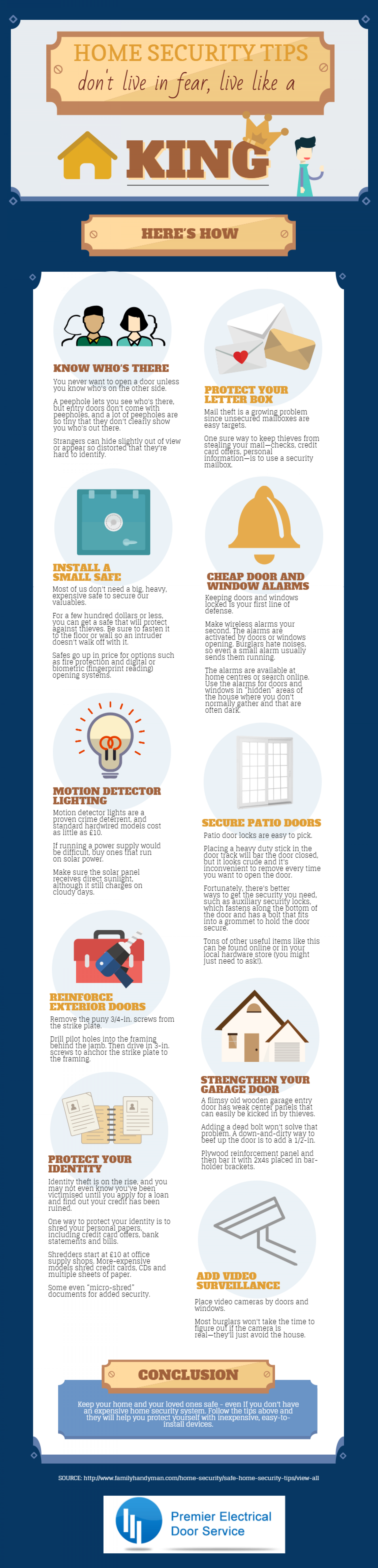 10 Inexpensive Home Security Tips To Help You Stay Safe Infographic