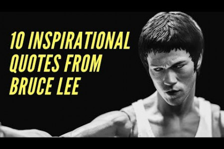 10 Inspirational Quotes from Bruce Lee Infographic