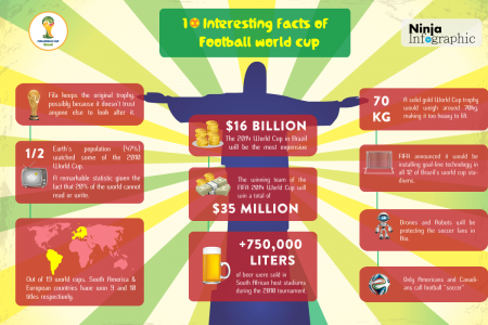 10 Interesting Facts about Football World Cup Infographic