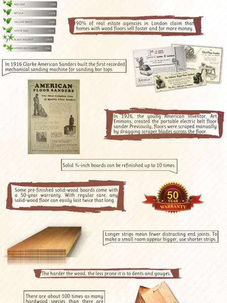 10 Interesting Facts About Hardwood Flooring Infographic