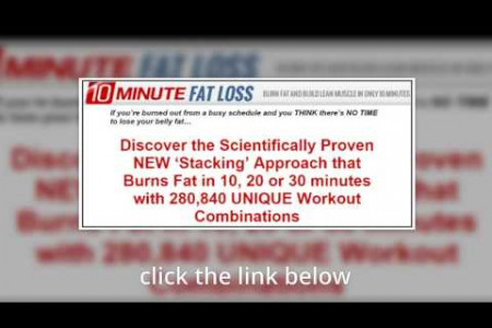 10 minute fat loss Infographic