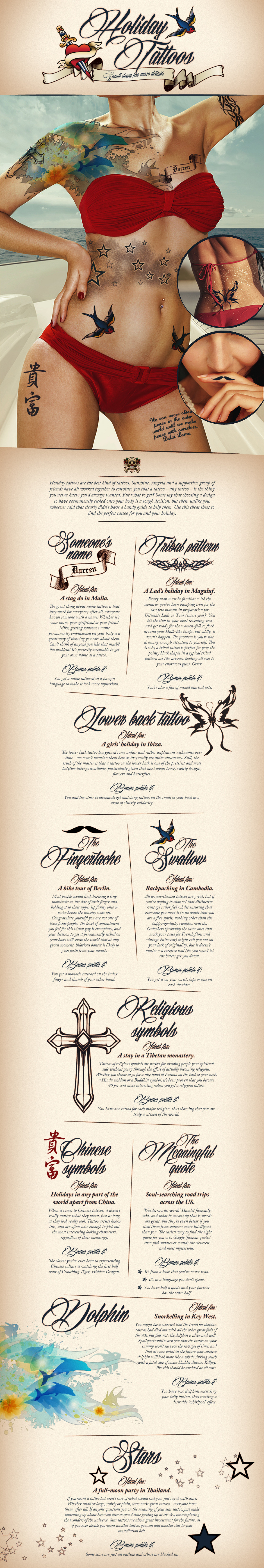 Holiday Tattoos Infographic