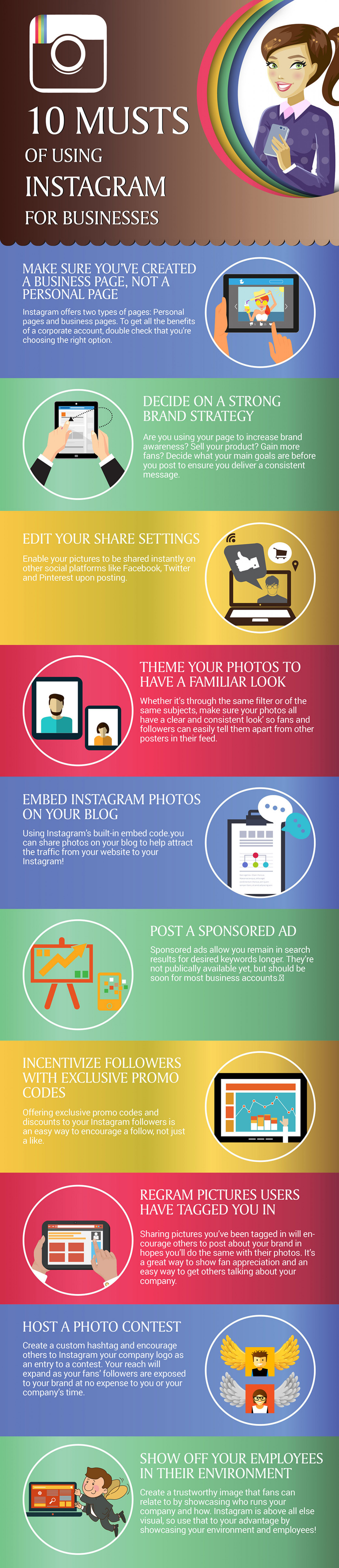 10 musts of using Instagram for businesses Infographic