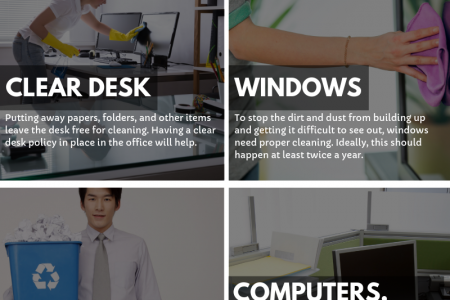 10 Office Cleaning Routine to Keep Your Office Clean Infographic