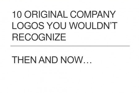 10 Original Company Logo You Wouldn't Recognize (Then And Now) Infographic