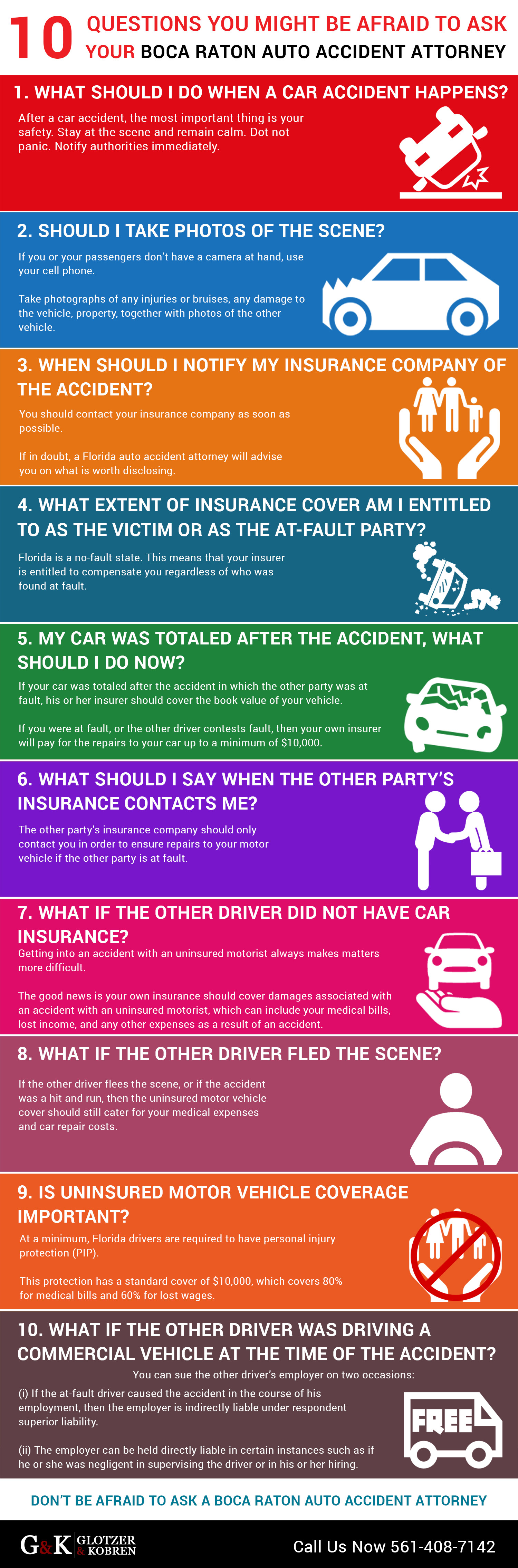 10 Questions You Might Be Afraid to Ask Your Boca Raton Auto Accident Attorney Infographic