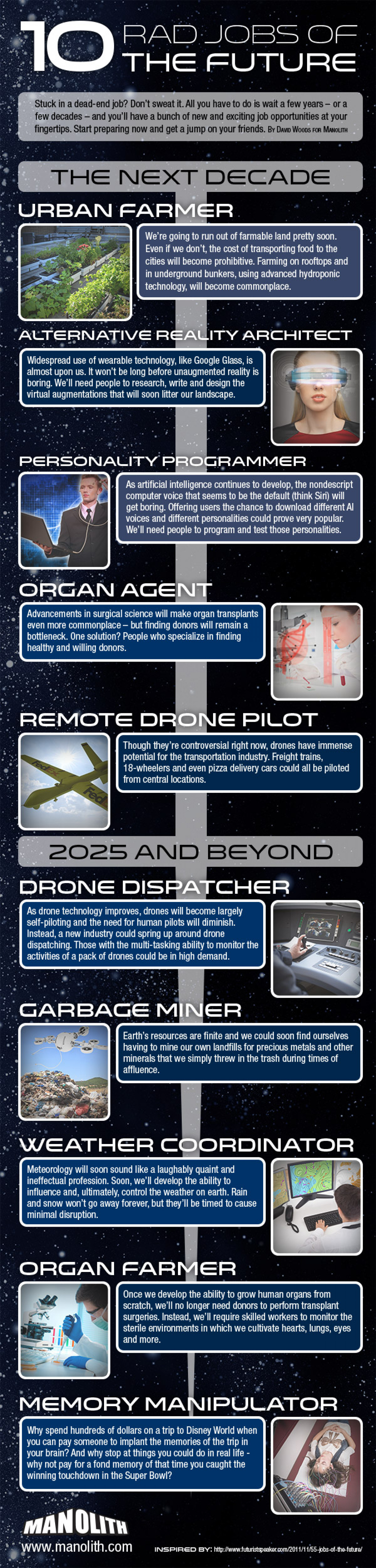 10 Rad Jobs of the Future Infographic