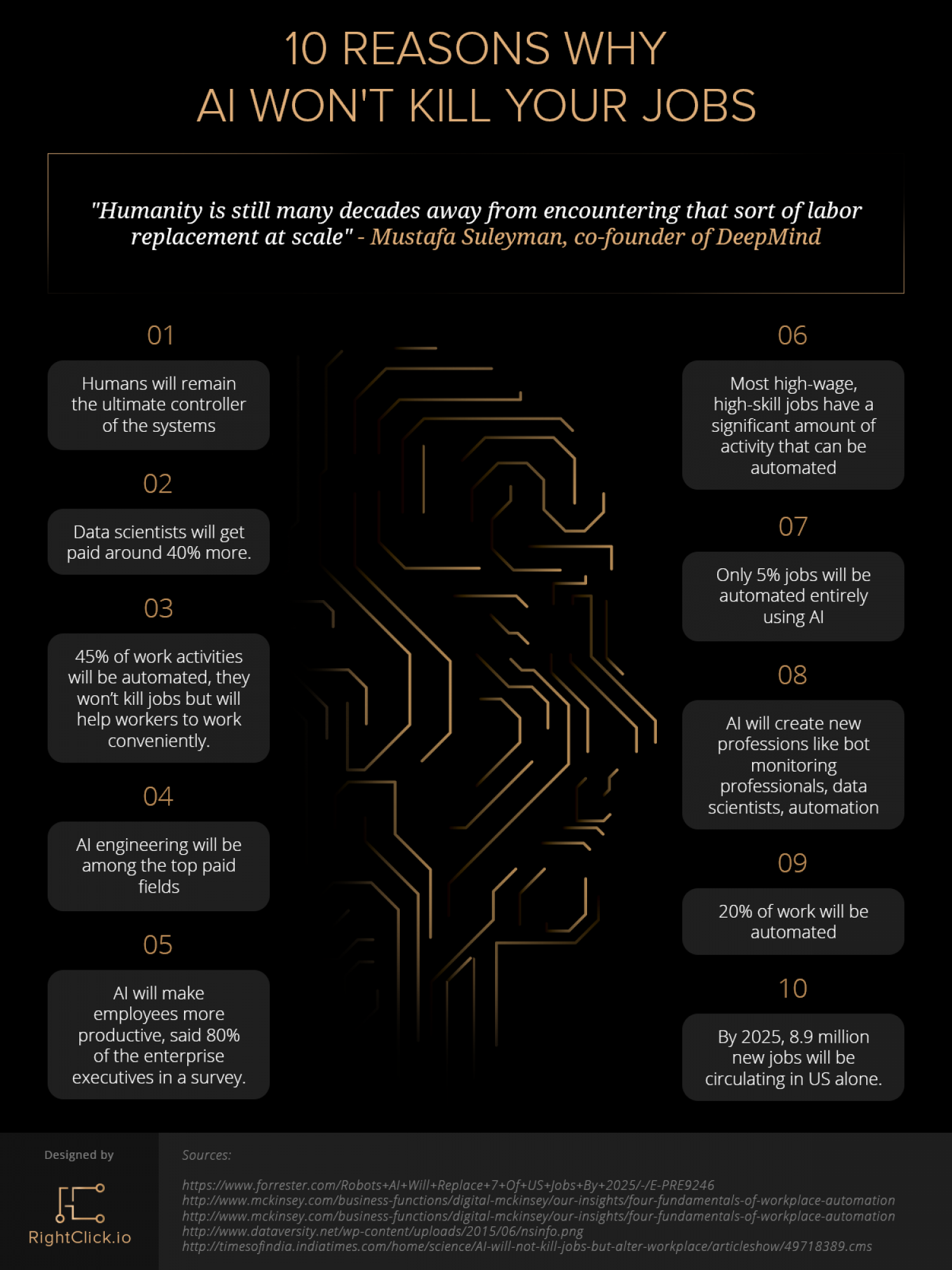 10 Reasons Why AI Won't Take Your Job  Infographic