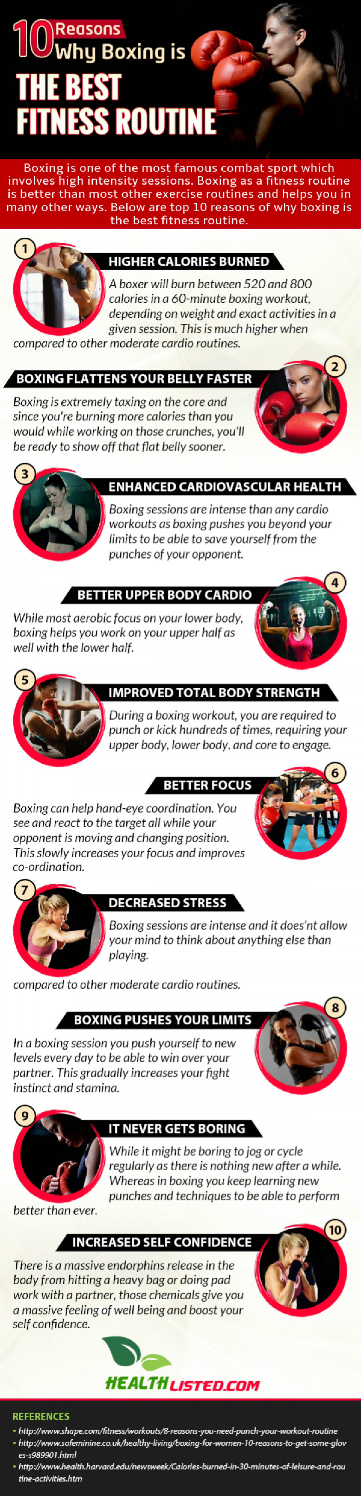 10 Reasons Why Boxing is the Best Fitness Routine Infographic