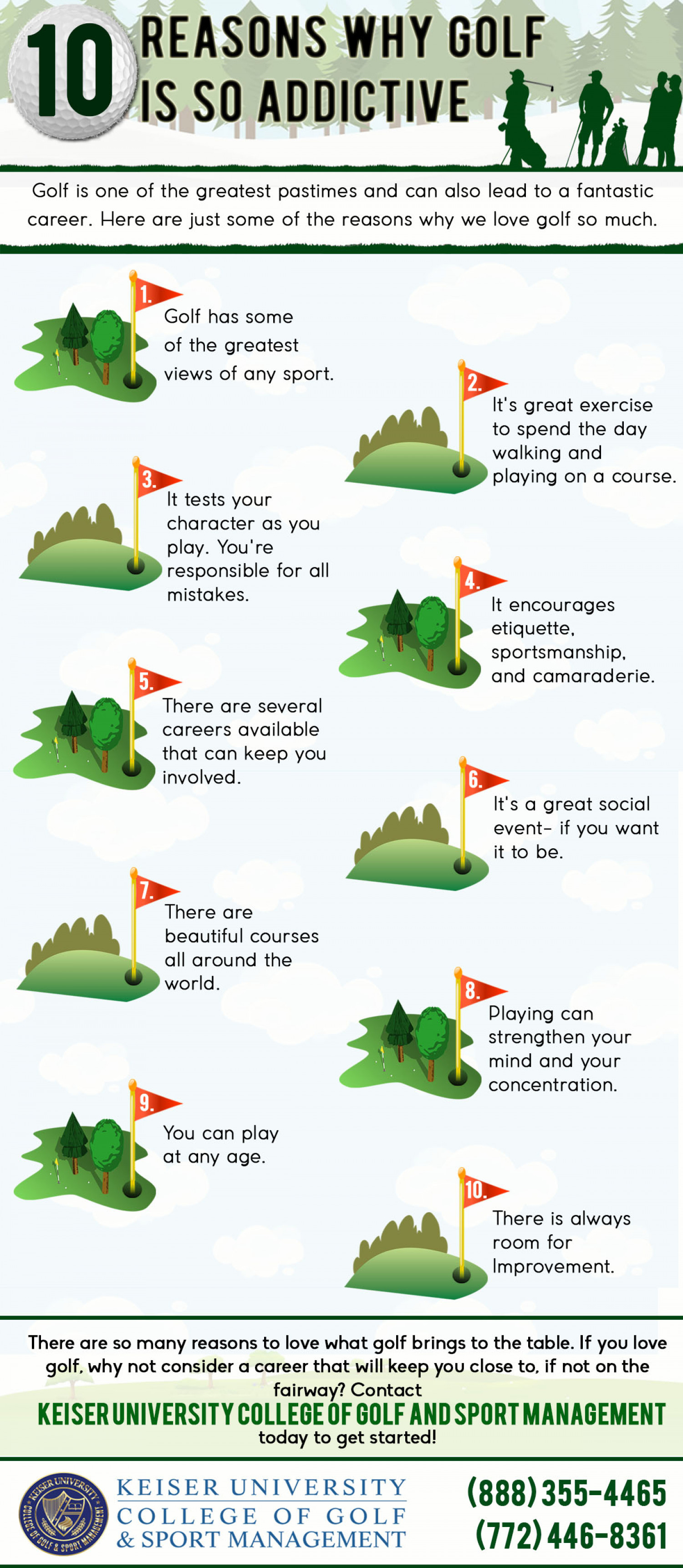 10 Reasons Why Golf Is So Addictive Infographic
