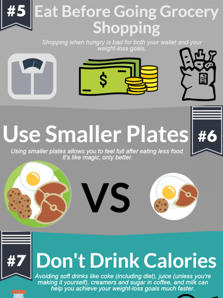 10 Science-Based Tips For Losing Weight Infographic