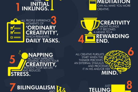 10 Scientifically Proven Facts About Creativity Infographic