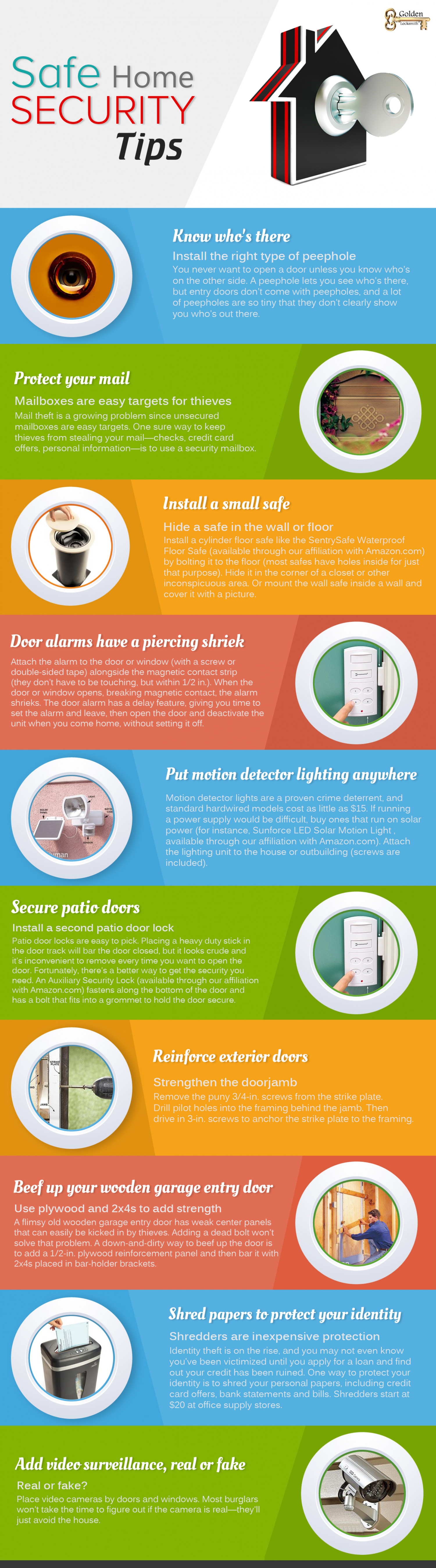 10 Security Tips To Keep Your Home Safe Infographic