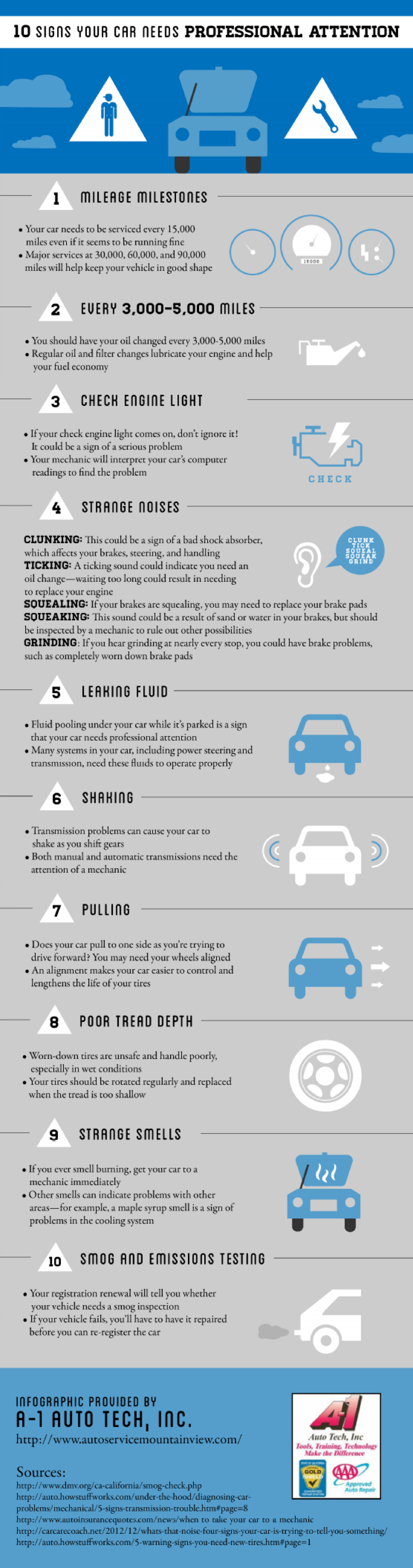 10 Signs Your Car Needs Professional Attention Infographic