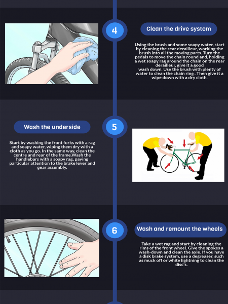 10 Steps On How To Maintain A Mountain Bike Infographic