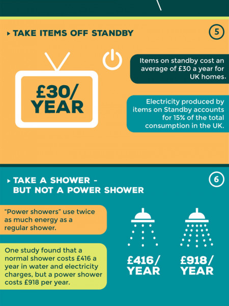10 Steps to a Greener Home Infographic