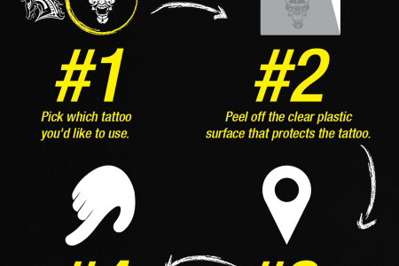 10 Steps to Apply a Temporary Tattoo! Infographic
