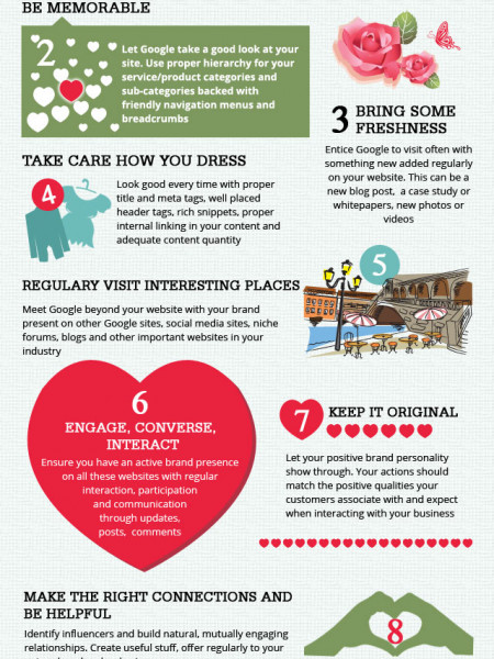 Make Google Fall In Love With Your Website Infographic