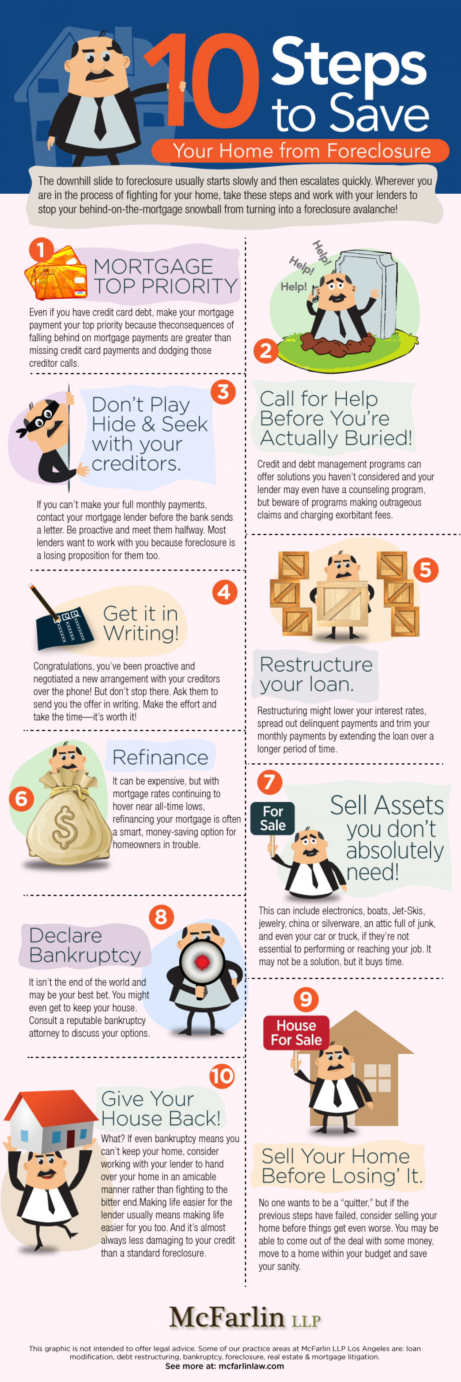 10 Steps to Save your Home Infographic