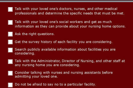 10 Steps to Selecting a Safe Nursing Home Infographic