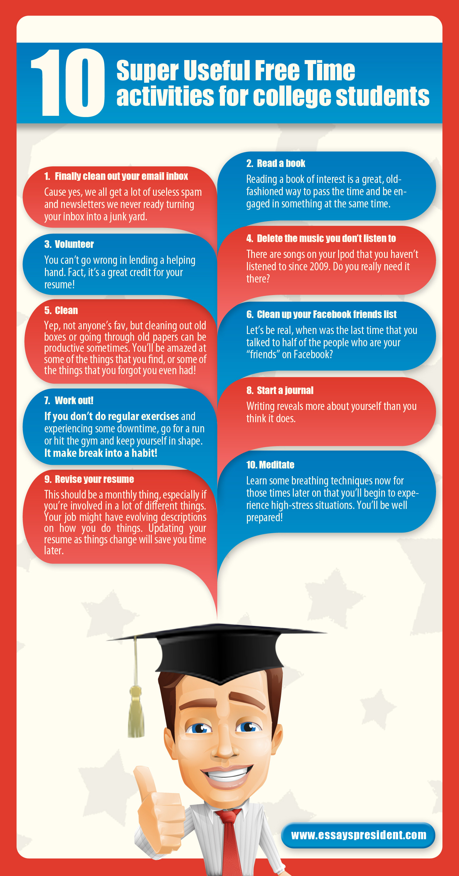 10 Super Useful Free Time activities for college students
