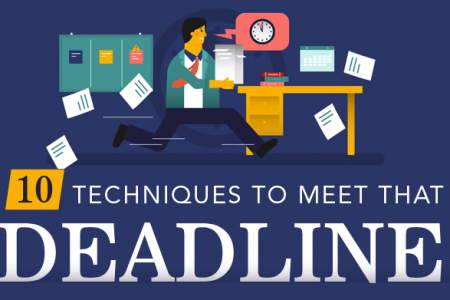 10 Techniques to Meet That Deadline Infographic
