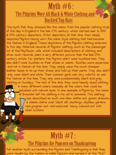 10 Thanksgiving Myths Dispelled  Infographic