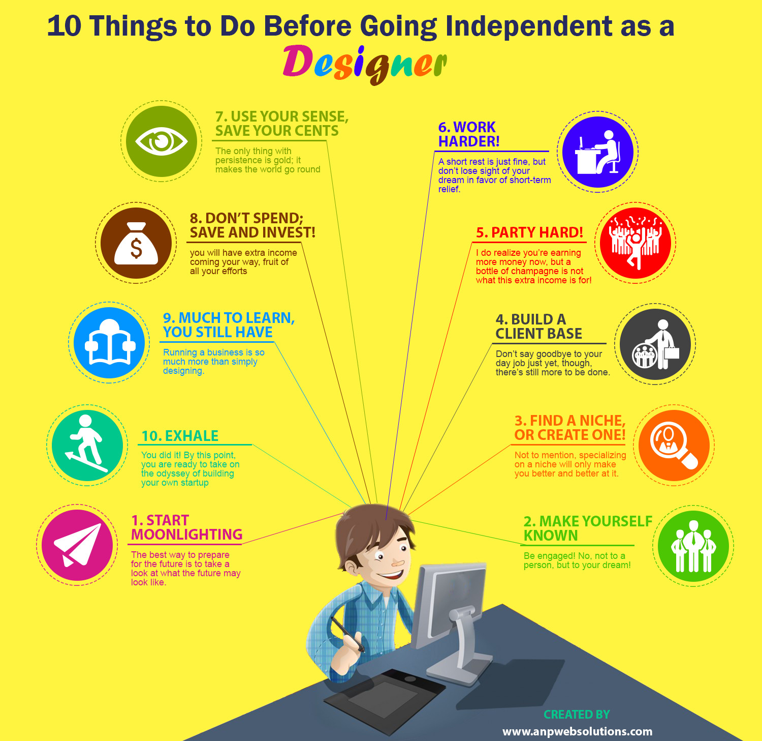 10 Things To Do  Before Going  Independent As Designers Infographic