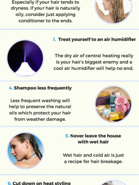 10 Things You Can Do Right Now to Prevent Winter Hair Damage Infographic