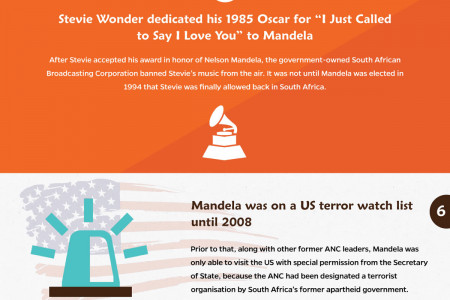 10 Things You Probably Did Not Know About Nelson Mandela [INFOGRAPHIC] Infographic