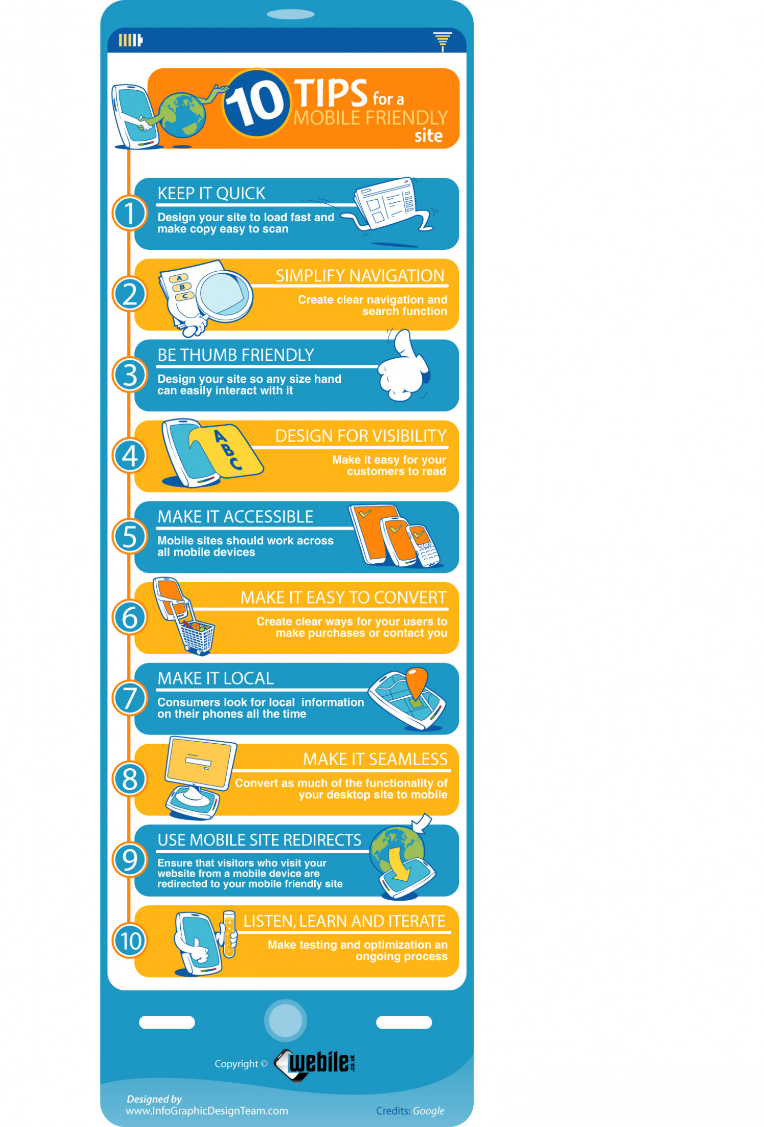 10 Tips for a Mobile Friendly Website Infographic