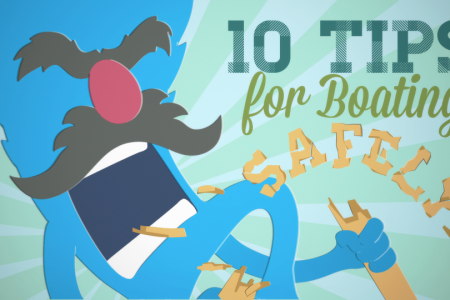 10 Tips for Boating Safely by The ACA Infographic