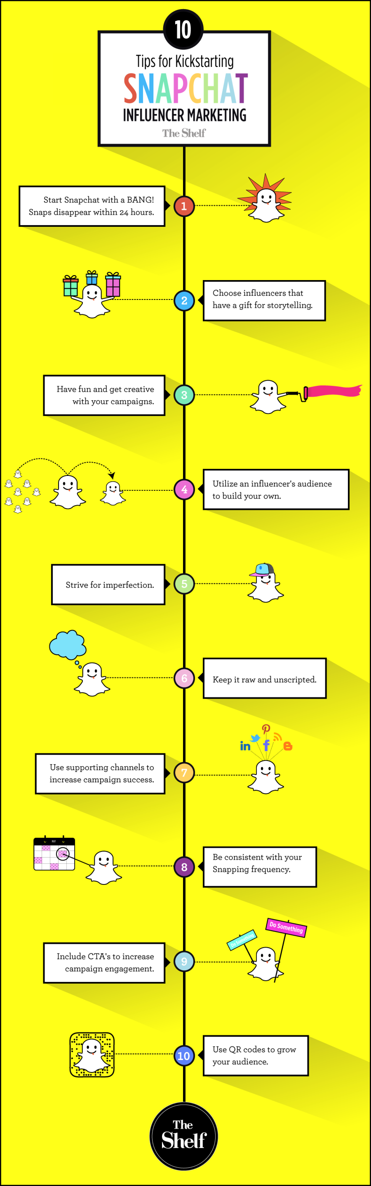 10 Tips for Doing Snapchat Influencer Marketing Campaigns Infographic