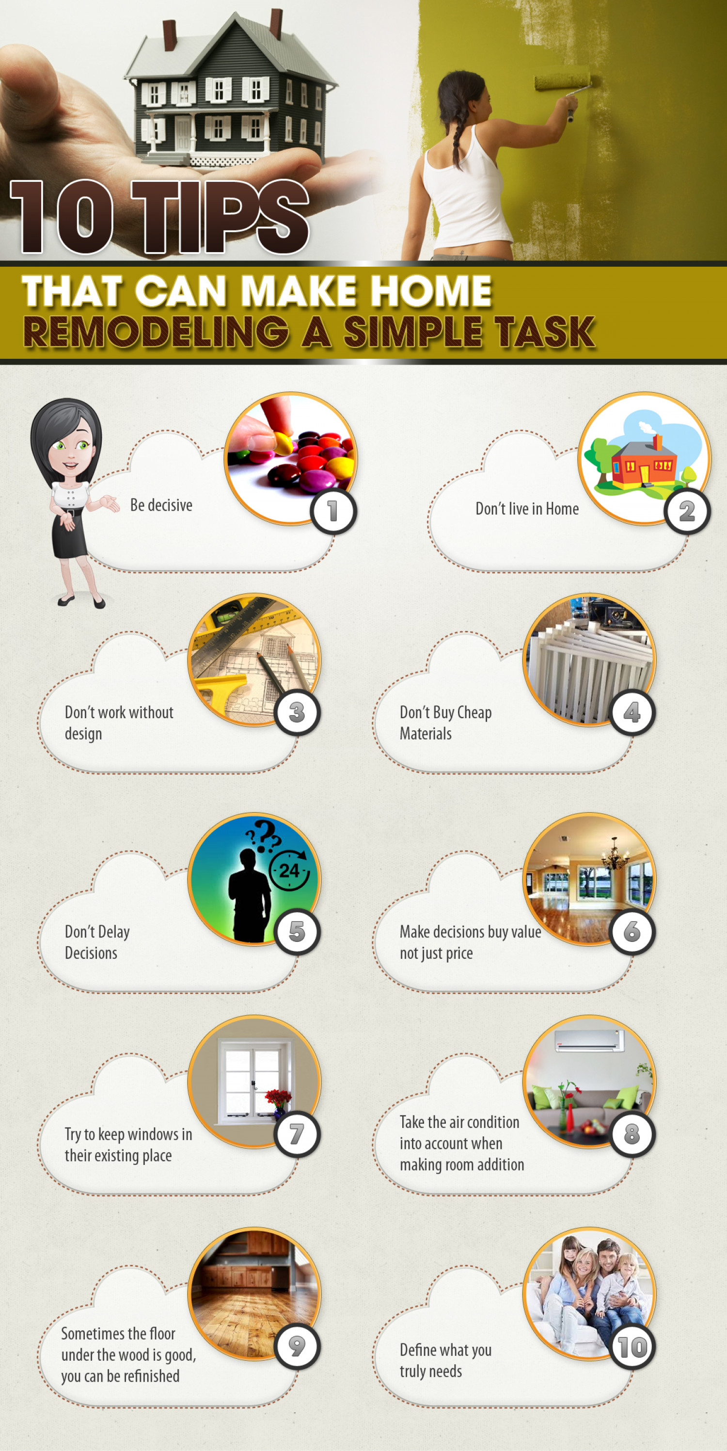 10 Tips That Can Make Home Remodeling A Simple Task Infographic