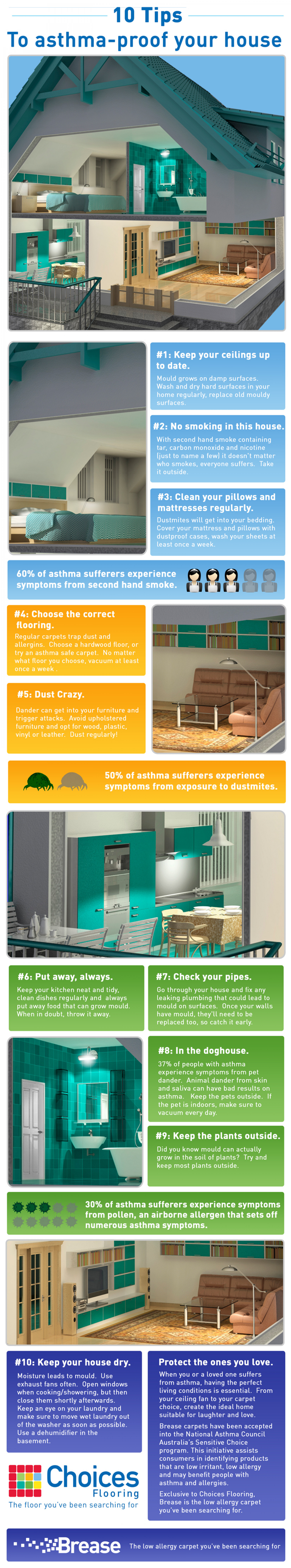 10 Tips to Asthma Proof your House Infographic