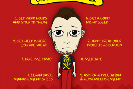 10 Tips To Overcome Stress For Graphic Designers Infographic
