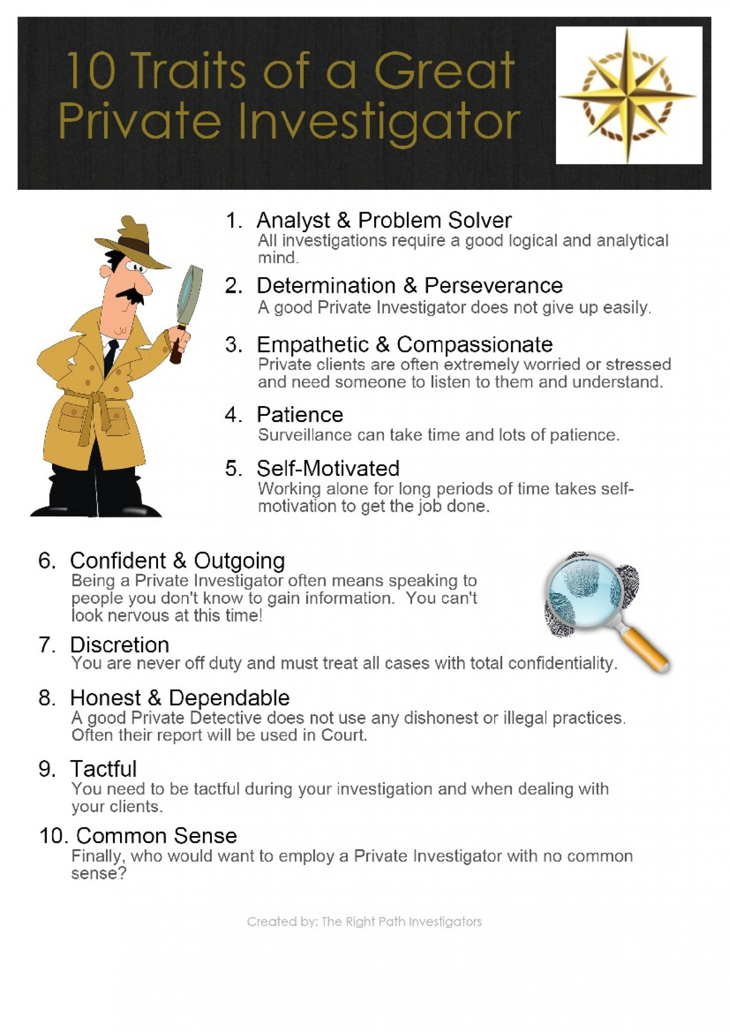 10 Traits Every Private Investigator Needs Infographic