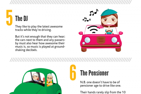 10 Types Of Drivers We All See Infographic