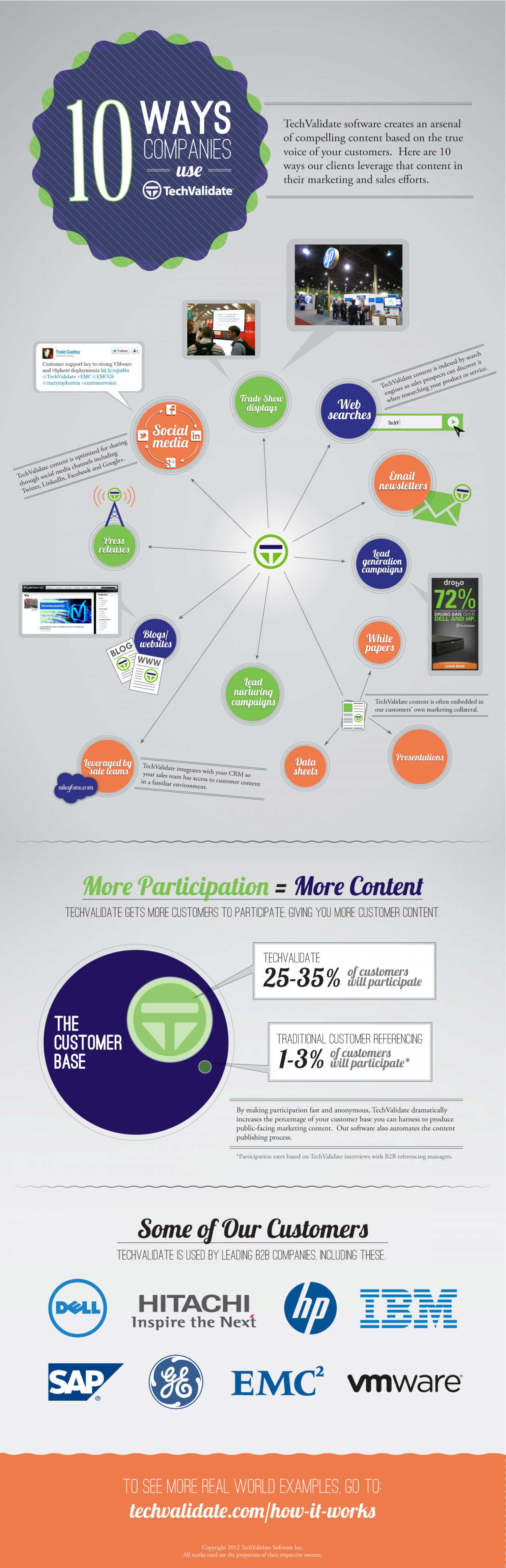 10 Ways Companies Use TechValidate Infographic
