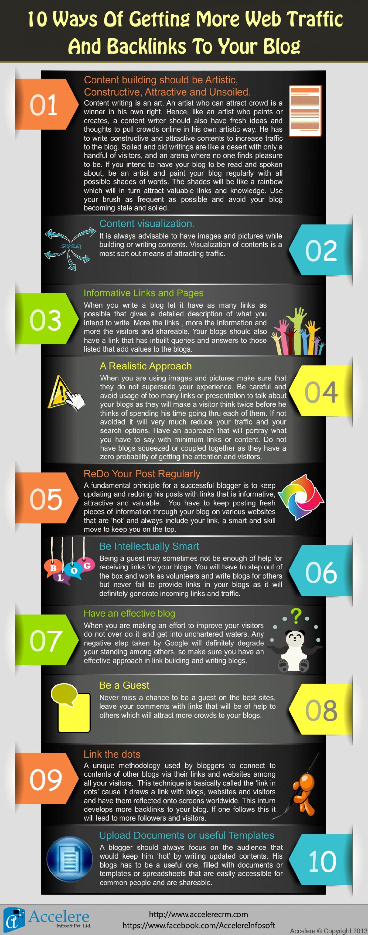 10 Ways Of Getting More Web Traffic And Backlinks To Your Blog Infographic