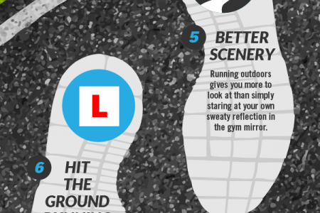 10 Ways Running Beats The Gym Infographic