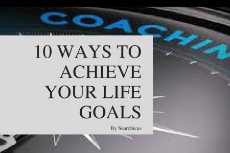 10 ways to achieve your life  goals Infographic
