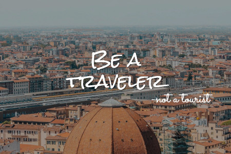 10 ways to be a traveler rather than a tourist Infographic