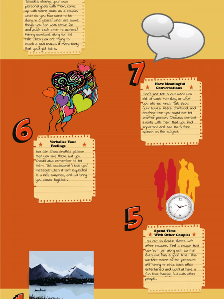 10 Ways To Keep Your Relationship Fresh Infographic