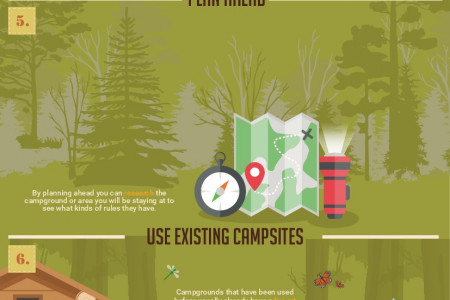 10 Ways to Minimize the Environmental Impact of Camping & Other Outdoor Activities Infographic