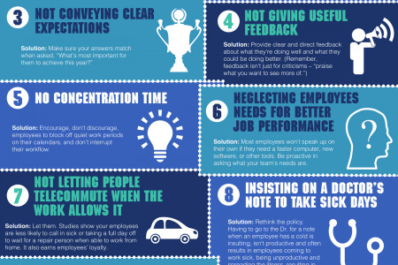10 Ways You're Making Your Employees Less Productive Infographic