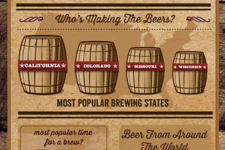 100 Days On The Beer Hunt Infographic