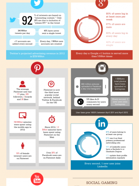 100 Social Networking Statistics & Facts for 2012 Infographic