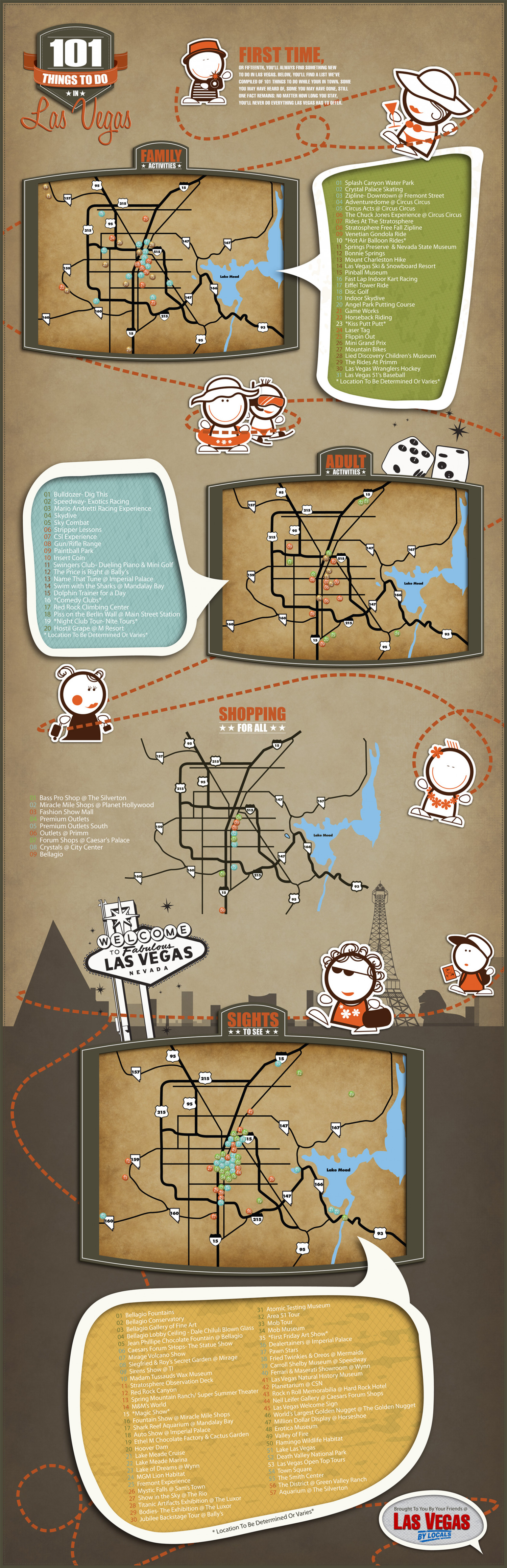 101 Things to do in Las Vegas Infographic